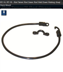 "Rod Tamer™ Rod Straps - TH Marine RT-14-DP & RT-18-DP - 14"" and 18"" Deck Mount Rod Holder - View 1"