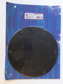 "Deck Plate - 8"" Diameter - Screw Mount - Choice of Black or White - TH Marine SDP-2-DP"