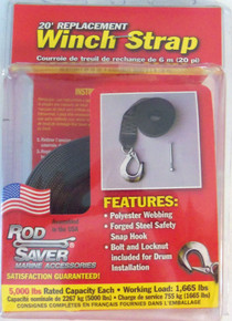 "Rod Saver WS20 - 20' X 2"" with Snap Hook - 5000 lb Capacity - View 1"