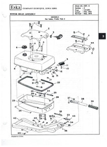 Eska Schematics and Part Numbers - Model 1703 - 3.5 hp
