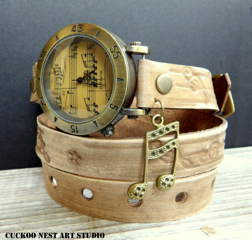 Music Leather Watch