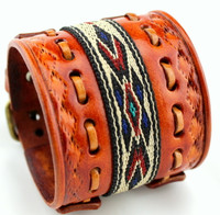 Women's Leather Cuff - Native American Bracelet