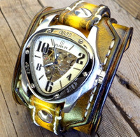 Tobacco Brown Steampunk Watch