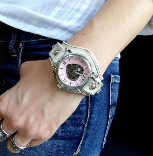 Women's Pink Steampunk Watch