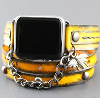 Tobacco Brown Apple Wrap Watch Strap