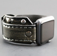Gray Studded Apple Watch Band