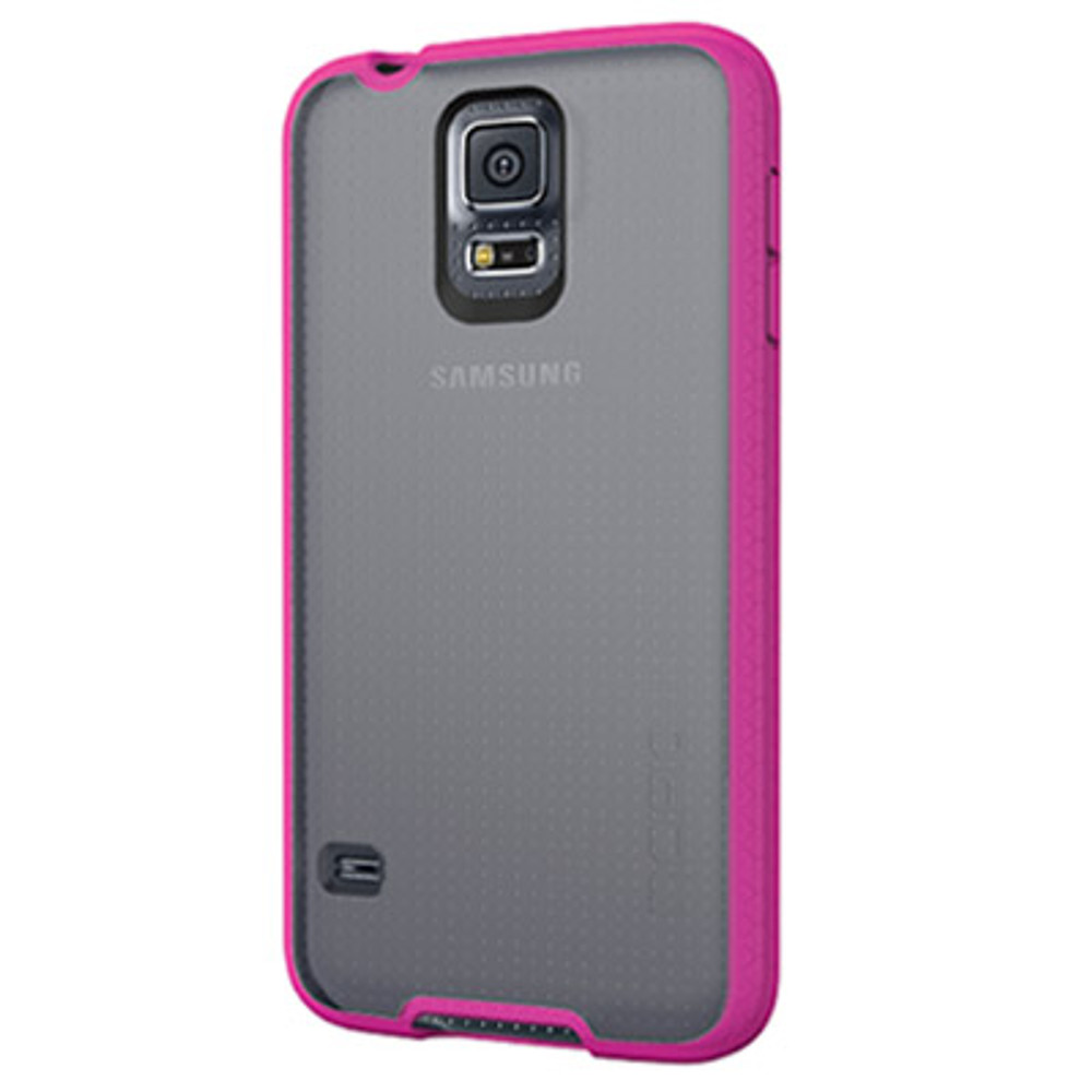 Incipio Octane for Samsung Galaxy S5 - Frost / Neon Pink