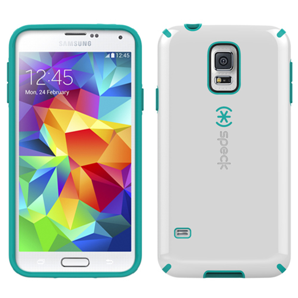 Speck CandyShell for Samsung Galaxy S5 - White / Blue