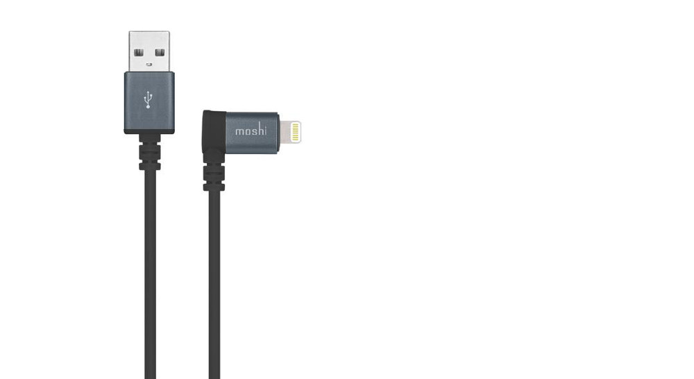 Moshi 90 Degree USB Cable with Lightning Connector - Black