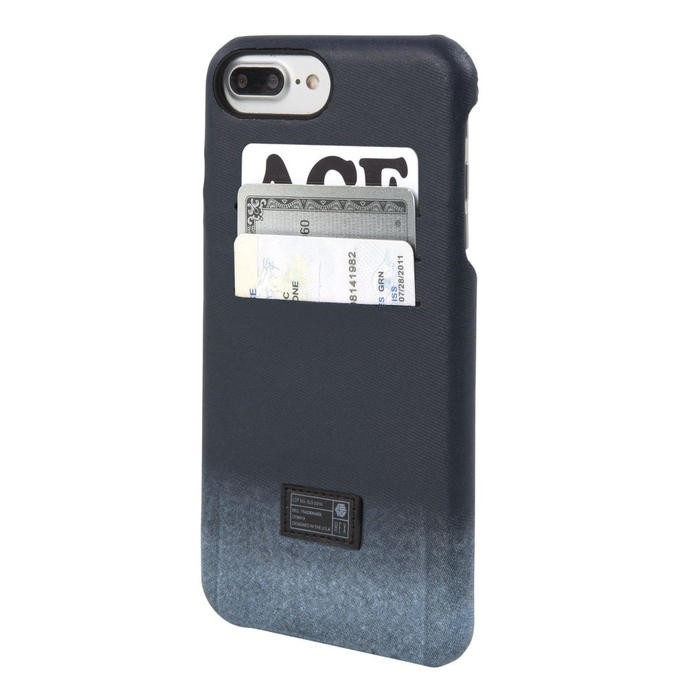 Hex Solo Wallet Case for iPhone 7 Plus - Distressed Blue Leather