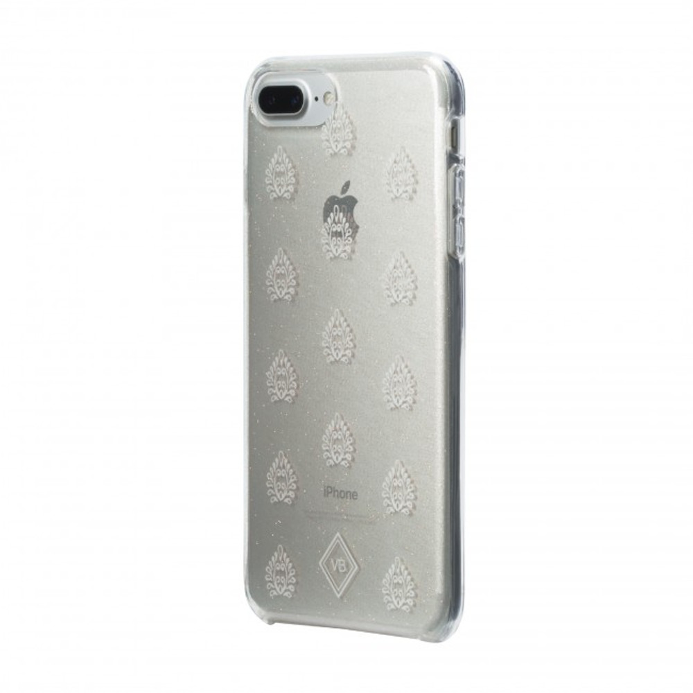 Vera Bradley Flexible Frame Case for iPhone 8 Plus, 7 Plus, 6 Plus - Lotus Leaf / White / Clear / Gold