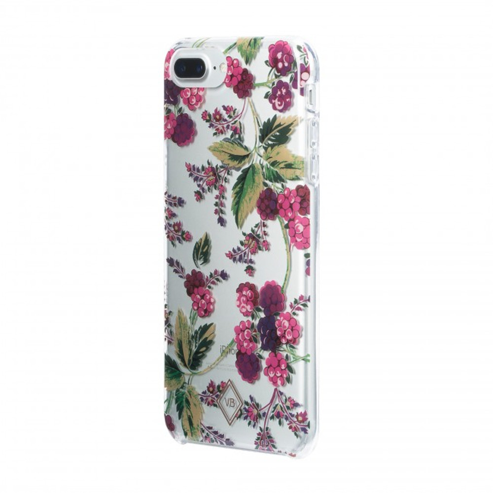 Vera Bradley Flexible Frame Case for iPhone 8 Plus, 7 Plus, 6 Plus - Winter Berry / Pink Multi / Clear