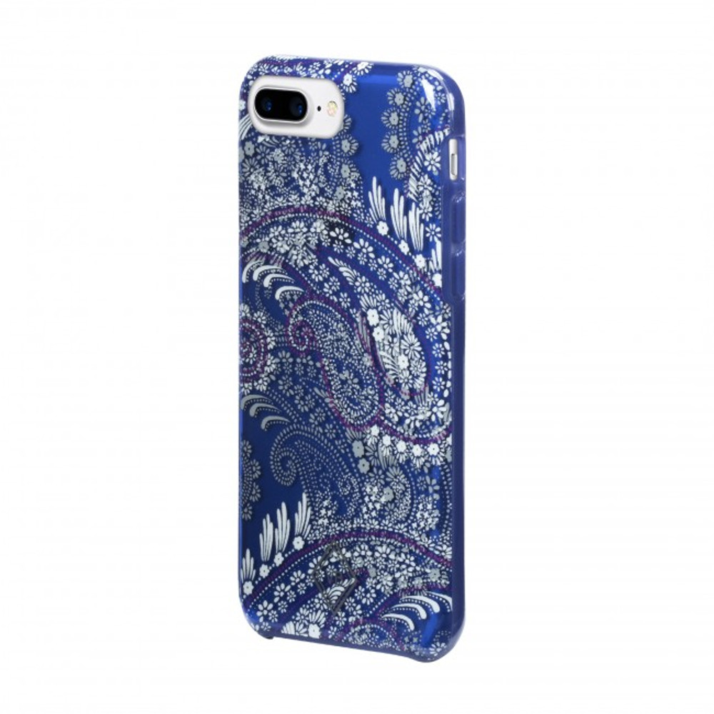 Vera Bradley Flexible Frame Case for iPhone 8, 7, 6S - Paisley Petals Purple / Navy