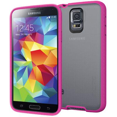 Incipio Octane for Samsung Galaxy S5 - Frost / Neon Pink