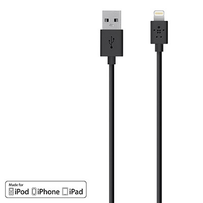 Belkin MIXIT Lightning to USB Charge Sync Cable - Black