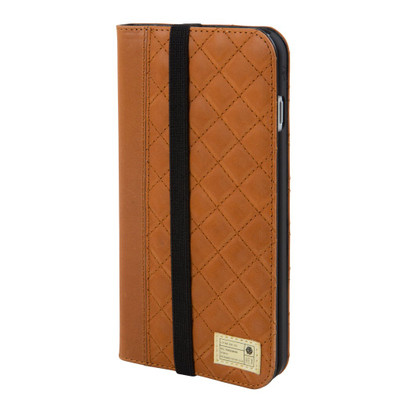 Hex Icon Wallet for iPhone 7 Plus - Brown Quilted Leather