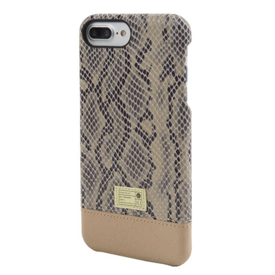 Hex Focus Case for iPhone 7 Plus - Beige Snake Leather