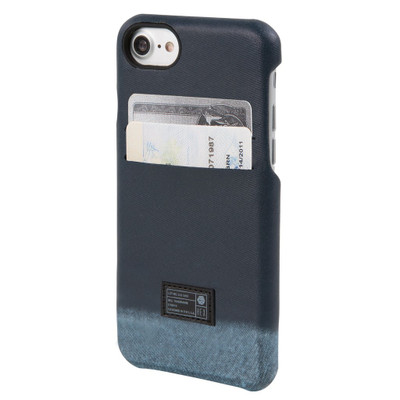 Hex Solo Wallet Case for iPhone 7 - Distressed Blue Leather