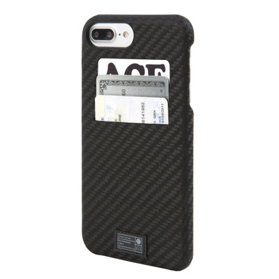 Hex Solo Wallet Case for iPhone 7 Plus - Black Carbon Fiber