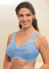 Glamorise Magic-Lift Full-Figure Wirefree Support Bra Azure Blue