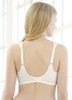 Glamorise Elegance Full-Figure Wide-Strap Support Bra Ivory - Back View