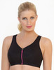 Glamorise Magic-Lift High Impact Zipper Sport Bra Black