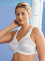Glamorise Magic-Lift Cotton Blend Full-Figure Wirefree Support Bra White