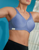 Glamorise Magic-Lift Seamless Sport Bra. Wicks away moisture and has a breathable open mesh design.