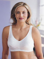 Glamorise Shape Boutique Lightly-Lined Jacquard Bra White