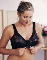 Glamorise Magic-Lift Front-Close Support Bra Black