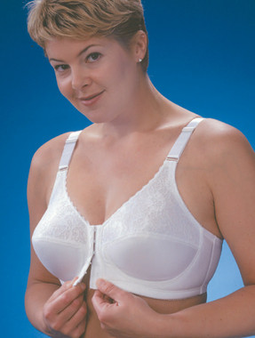 Glamorise Comfort Lift Front-Close Support Bra White