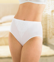 Glamorise Elegance Shaping Brief Hi-Waist Light-Control Panty White