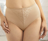 Glamorise Elegance Shaping Brief Hi-Waist Tummy-Control Panty Cafe