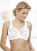 Glamorise Natural Wire Poke-Free Underwire Lace Support Bra White