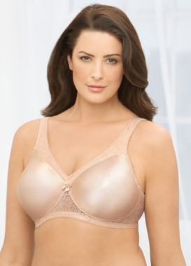Glamorise Magic-Lift Seamless Minimizer Wirefree Support Bra Cafe