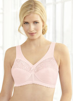 Glamorise Magic-Lift Full-Figure Wirefree Support Bra Pink