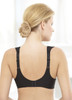 Glamorise Natural Wire Poke-Free Underwire Demi Support Bra Black - Back View