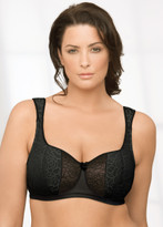 Glamorise Natural Wire Poke-Free Underwire Demi Support Bra Black