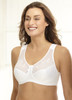 Glamorise Soft-Shoulders Extra-Wide Straps & Minimizer Bra White