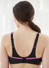Glamorise Sport No-Bounce Camisole Cami Bra Black - Back View