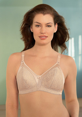 Glamorise Lightly-Lined Lace Bra Cafe & Exclusively Cup Size A & B