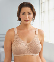 Glamorise Classic Lace Full-Figure Soft Cup Support Bra Cafe