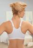 Glamorise Soft-Shoulders Back Support Front-Close T-Back Bra - Back View