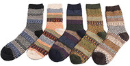 Lian LifeStyle Men's 5 Pairs Pack Wool Socks Casual Classic Square Size 6-10 Men's Clothing