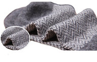 Lian LifeStyle Men's 5 Pairs Pack Rabit Hair&Wool Crew Socks Size 7-11 Stripped
