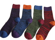 Lian LifeStyle Men's 3 Pairs Pack Cotton Crew Socks Casual Size 8-11