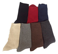 Lovely Annie Men's 6 Pairs Wool Socks One Size 7-9