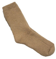 Lovely Annie Men's 4 Pairs Extra Thick Wool Socks Solid(Beige)