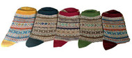 Lian LifeStyle Women's 5 Pairs Pack Cotton Socks Mixed Color Size 7-9