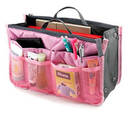 Lady Women Travel Insert Handbag Organizer Tidy Bag-Pink